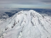 Mount Rainier on a  Delivery Flight from Boeing Field