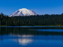 Mount Rainier over Dewey Lake
