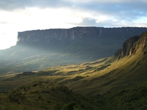 Mount Roraima the biggest flat mountain in the world located at the tri-border Brazil Venezuela and Guyana