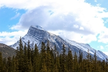Mount Rundle in Banff National Park Canada