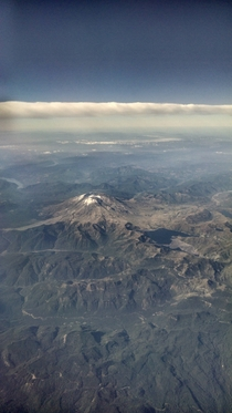 Mount Saint Helens On my way to Vegas and it was clearest its been in a while Glad I was in the air