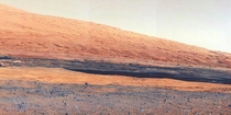Mount Sharp a mountain inside Gale Crater where the Curiosity rover landed
