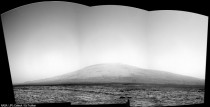 Mount Sharp panorama taken on Sol  by Curiosity Rover