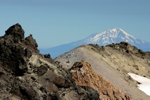 Mount Shasta from Lassen Peak California by Kai Schreiber