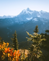 Mount Shuksan on a perfect Autumn day October