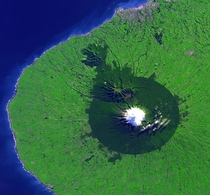 Mount Taranaki from Space