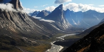 Mount Thor in Canada Earths greatest vertical drop of  m  ft