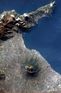 Mount Vesuvius and the Bay of Naples from space Photographer Chris Hadfield