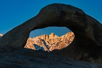 Mount Whitney Framed In The Mobius Arch Alabama Hills