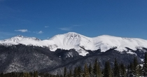 Mountain across from Mary Jane ski resort in Winter Park CO March   x OC