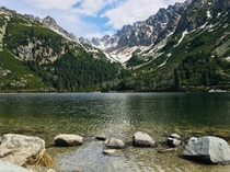 Mountain lake in High Tatras Slovakia My favorite place as its about an hour from where I live