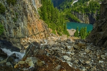 Mountain Lake near Gothic Basin North Cascades WA