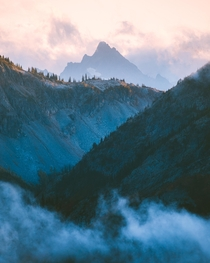 Mountain layers of North Cascades National Park Always love these foggy days