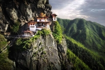 Mountain monastery Bhutan David Lazar