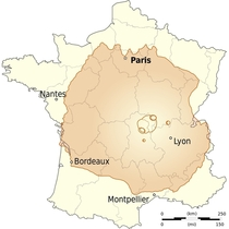 Mountain Olympus Mons on Mars tallest planetary mountain in the solar system compared to the surface of France