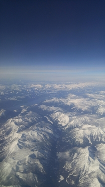 Mountain ranges near Calgary Alberta Canada