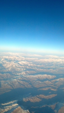 Mountain ranges near Northern Iraq amp Turkey from  feet