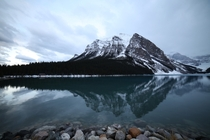 Mountain reflections in Banff National Park AB Canada