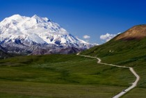 Mountain road to Mt McKinley