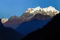 Mountain views and Blue hues in Nepal