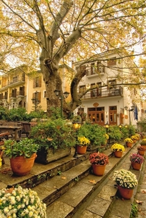 Mountain village Pelion Greece