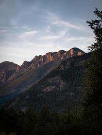 Mountains at golden hour Invermere British Columbia