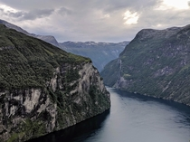 Mountains carved with a butter knife Geiranger Norway OC
