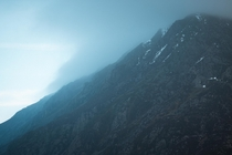 Mountains mist and snow Perfect - Snowdonia National Park Wales