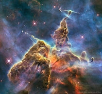 Mountains of Dust in the Carina Nebula