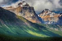 Mountains of Jasper Alberta Canada by Greg McLemore