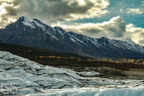 Mountains surrounding the Matanuska glacier Alaska