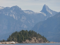 Mountains Tower Above Desolation Sound British Columbia Canada
