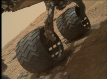 MSL wheels on Mars