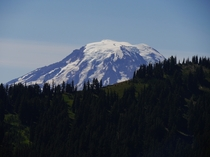 Mt Adams looms over a ridge in Goat Rocks Wilderness Washington