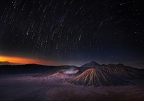 Mt Bromo before sunrise Indonesia  by Weerapong Chaipuck