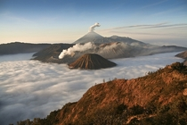 Mt Bromo rising over a river of clouds Marcel Fischer