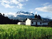 Mt Chimborazo the tallest mountain in Ecuador and the point on Earth closest to the sun