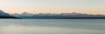 Mt Cook  Lake Pukaki Sunset Panoramic New Zealand  OC