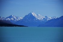 Mt Cook overlooking Lake Pukaki New Zealand