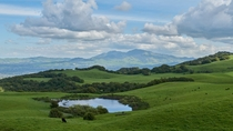 Mt Diablo seen from Briones Regional Park in the SF Bay Area CA