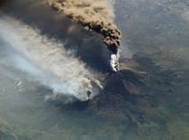 Mt Etna eruption of  as seen from the International Space Station