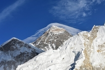Mt Everest wearing a veil before sunset November   x