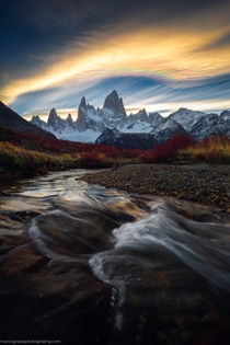 Mt Fitz Roy at Sunset Patagonia  by Marco Grassi