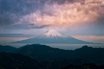 Mt Fuji at Sunset  by Yuga Kurita