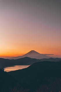 Mt Fuji at sunset KanagawaJapan  IG kota_ig