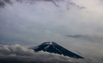 Mt Fuji Covered by Clouds
