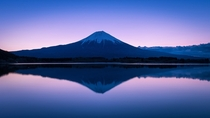 Mt Fuji Reflection - a minimal sunrise on Japans iconic volcano  photo by myy_t