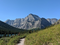 Mt Gould and Angel Wing from the Grinnell Glacier Trail Glacier National Park MT USA