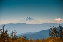 Mt Hood as seen from Mt Saint Helens