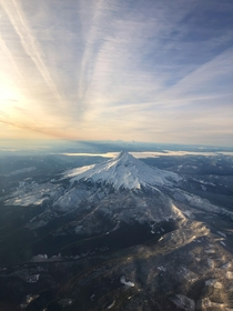 Mt Hood captured from my flight descending into Portland OR